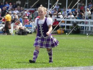 One of the many highland dancers who circled the field during Saturday's opening ceremonies. Nation Valley News photo.