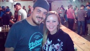 Friends Austin Jurgens, 20, and Josie Rennick, 31, enjoyed the Great Scott show and also took in the Riq Turner band the following evening, at the 2016 Chesterville Fair. They plan to return the Fair next year. Zandbergen photo, Nation Valley News