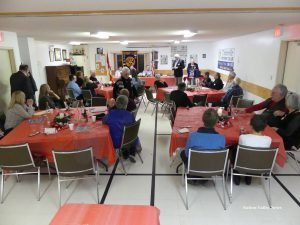 The Rotary Club Christmas gathering at the Nelson LaPrade Centre. Zandbergen photo, Nation Valley News