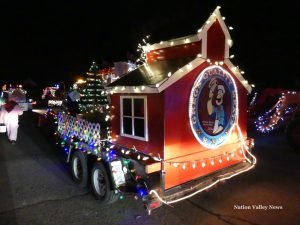 Greg's Quality Meats float was judged the 'People's Choice' winner in the 2016 North Dundas Parade of Lights. Zandbergen photo, Nation Valley News